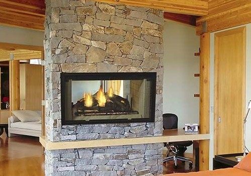 Majestic Wood Fireplace at Warming Trends in Onalaska, WI