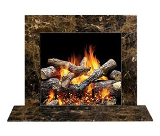 Stone Tile Amp Mantel Fireplace Finishes Warming Trends