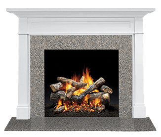 Stone Tile Mantel Fireplace Finishes Warming Trends In