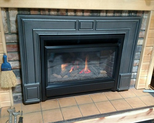 Fireplace Installation at Warming Trends - After