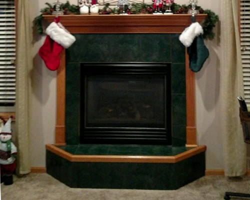 Fireplace Installation at Warming Trends - Before