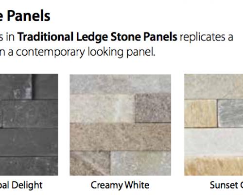 Traditional Ledge Stone Fireplace Panels